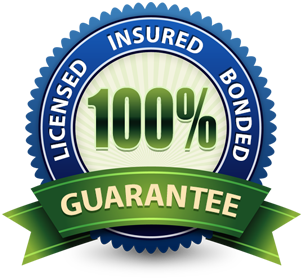 We are licensed insured and bonded